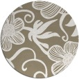 rug #619061 | round mid-brown natural rug