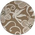 rug #619073 | round beige natural rug