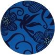 rug #619089 | round blue natural rug