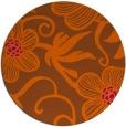 rug #619185 | round red-orange natural rug