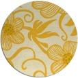 rug #619209 | round yellow natural rug