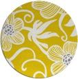 rug #619221   round yellow rug