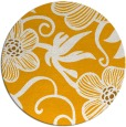 rug #619257 | round light-orange natural rug
