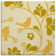 rug #619913 | square yellow graphic rug