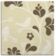 rug #619917 | square yellow graphic rug