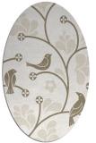 rug #619977 | oval beige natural rug