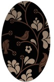 rug #619993 | oval black graphic rug