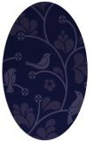 rug #620061 | oval blue-violet graphic rug