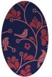 rug #620069 | oval pink graphic rug