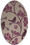 rug #620133 | oval pink natural rug