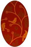 rug #620221 | oval red rug