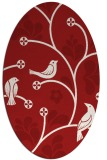rug #620225 | oval red natural rug