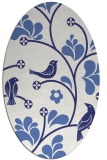 rug #620257 | oval blue graphic rug