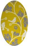 rug #620277 | oval yellow natural rug