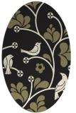 rug #620285 | oval black natural rug