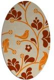 rug #620293 | oval beige natural rug