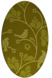 rug #620297 | oval light-green graphic rug
