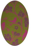 rug #620305 | oval light-green rug