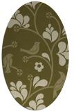 rug #620309 | oval light-green rug