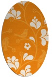 rug #620321 | oval light-orange popular rug