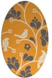 rug #620325   oval light-orange popular rug
