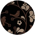 rug #620697 | round black graphic rug