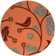 rug #620881 | round orange natural rug