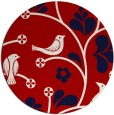 rug #620921 | round red natural rug