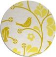 rug #620957 | round white natural rug