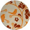 rug #620997 | round orange graphic rug