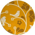 rug #621017 | round light-orange graphic rug