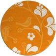 rug #621025 | round light-orange natural rug