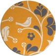 rug #621029 | round light-orange natural rug