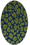 rug #623533 | oval green animal rug