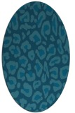 rug #623545 | oval blue-green rug
