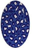 rug #623601 | oval blue-violet animal rug