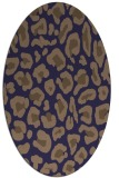 rug #623605 | oval blue-violet animal rug