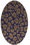rug #623605 | oval beige animal rug