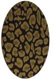 rug #623613 | oval mid-brown rug