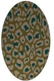 rug #623617 | oval brown rug
