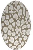 rug #623637 | oval white animal rug