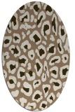 rug #623649 | oval beige animal rug