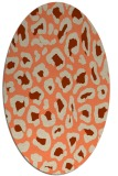 rug #623693 | oval beige animal rug