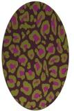 rug #623725 | oval purple animal rug