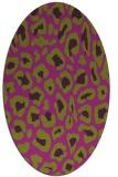rug #623727 | oval animal rug