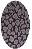 rug #623733 | oval purple animal rug