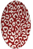 rug #623745 | oval red animal rug
