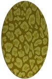 rug #623817 | oval light-green animal rug