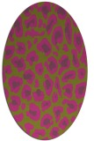 rug #623825 | oval light-green rug