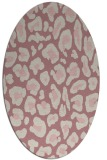 rug #623837   oval pink animal rug